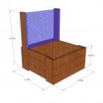 Raised garden bed + mesh