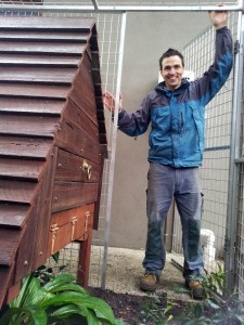 Chicken house coop recycled timber hawthorn